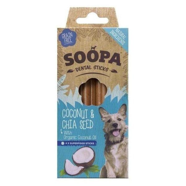 Soopa dental sticks cocosnoot & chia zaad